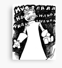 Doctor Horrible - Transparent Evil Laugh Canvas Print