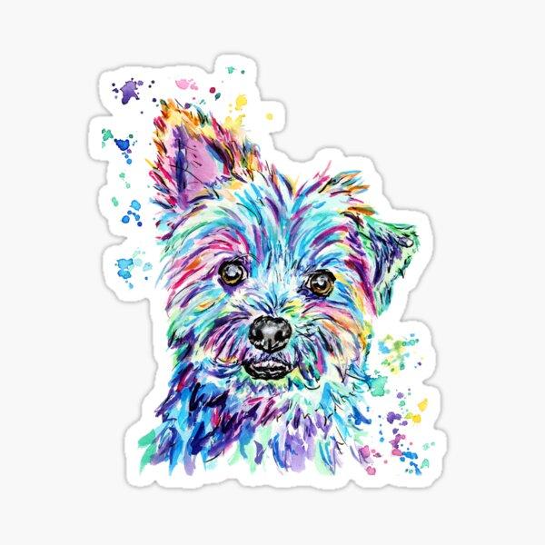 Watercolour Yorkie Sticker