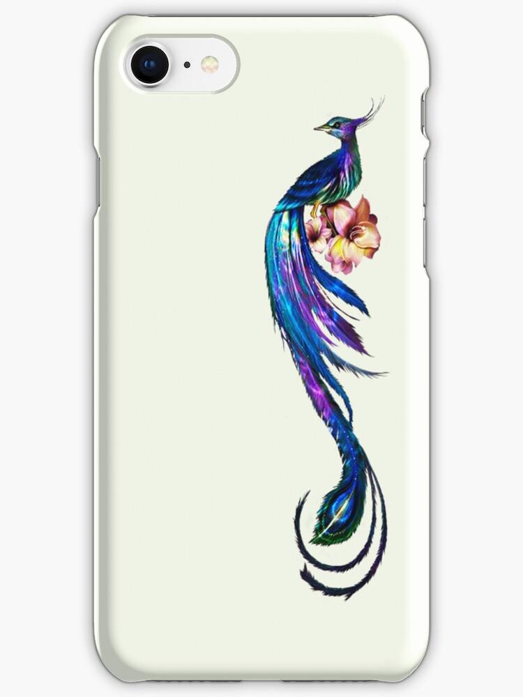 Elegant Peacock - iphone Case by Carol Knudsen