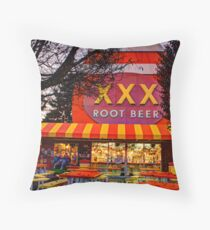 The XXX Root Beer Barrel Throw Pillow