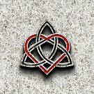Celtic Knotwork Valentine Heart Bone Texture 1 by Brian Carson