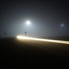 Car on a Night Highway by agenttomcat