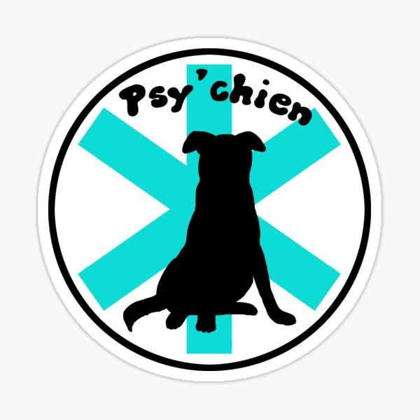 Logo Psy'chien Sticker