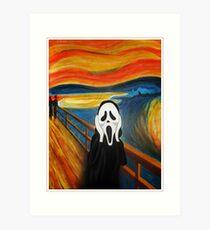 Scream Mash-up Art Print