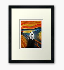 Scream Mash-up Framed Print