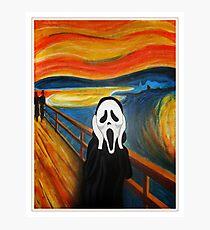 Scream Mash-up Photographic Print