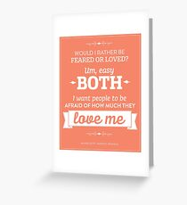 Dunder Mifflin The Office - Michael Scott Feared or Loved Greeting Card
