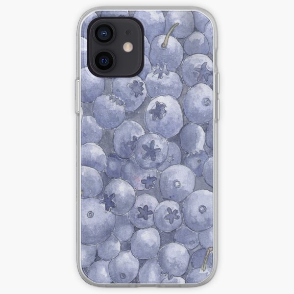 Blueberries - Realistic Watercolor iPhone Soft Case