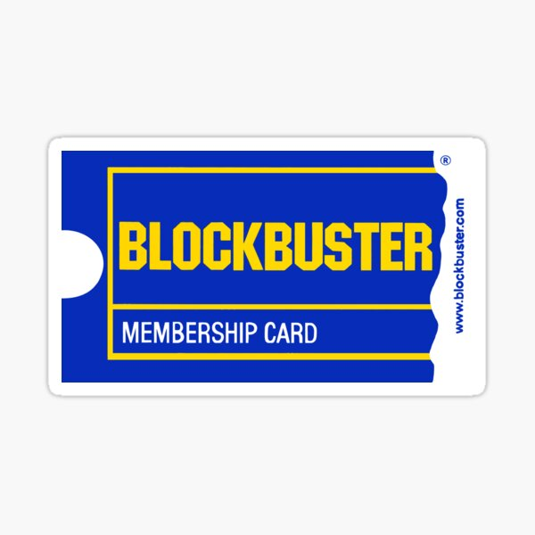 Blockbuster Membership Card Sticker
