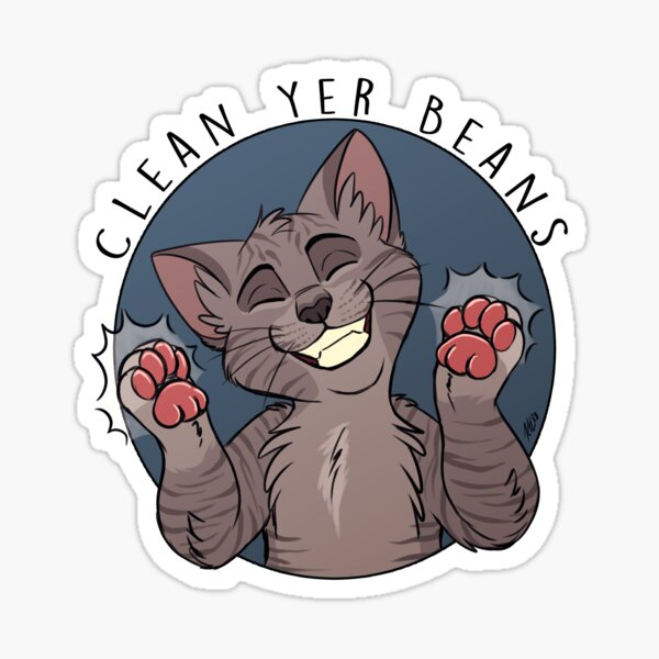 Clean Yer Beans Sticker