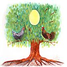 Family tree egg painting by veerapfaffli