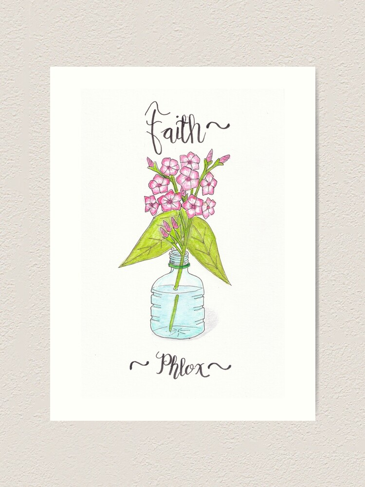 Alternate view of Phlox - Faith Art Print