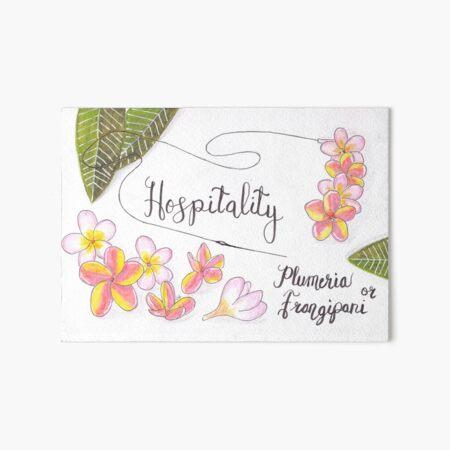 Plumeria or Frangipani - Hospitality Art Board Print