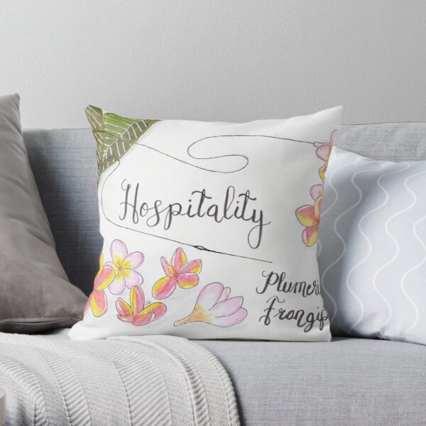 Plumeria or Frangipani - Hospitality Throw Pillow