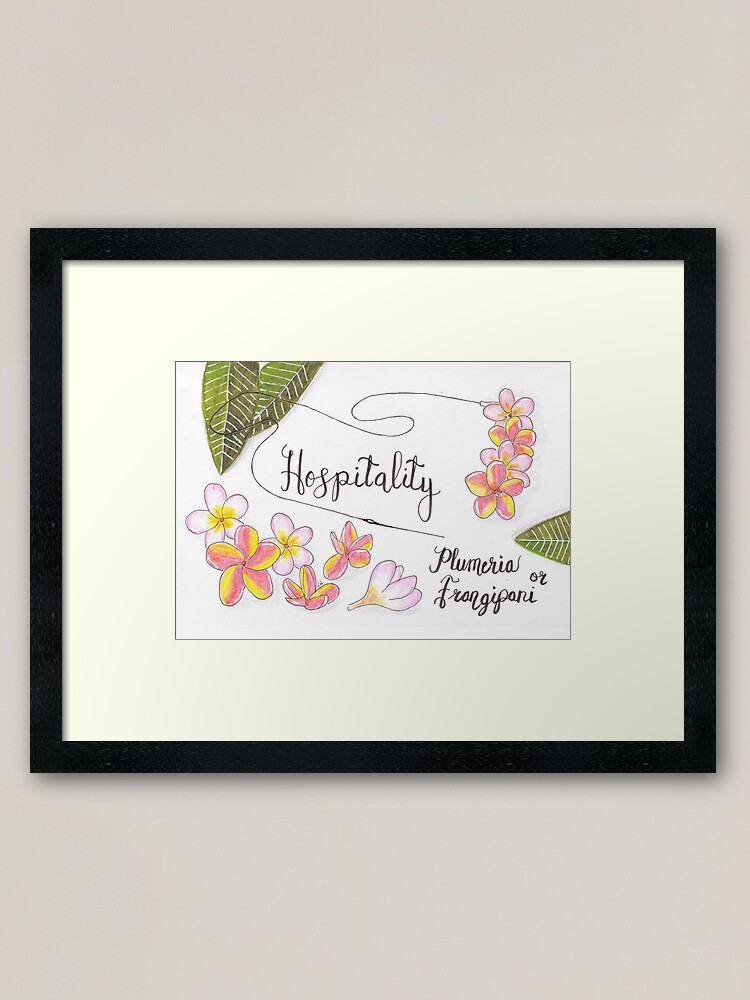 Alternate view of Plumeria or Frangipani - Hospitality Framed Art Print