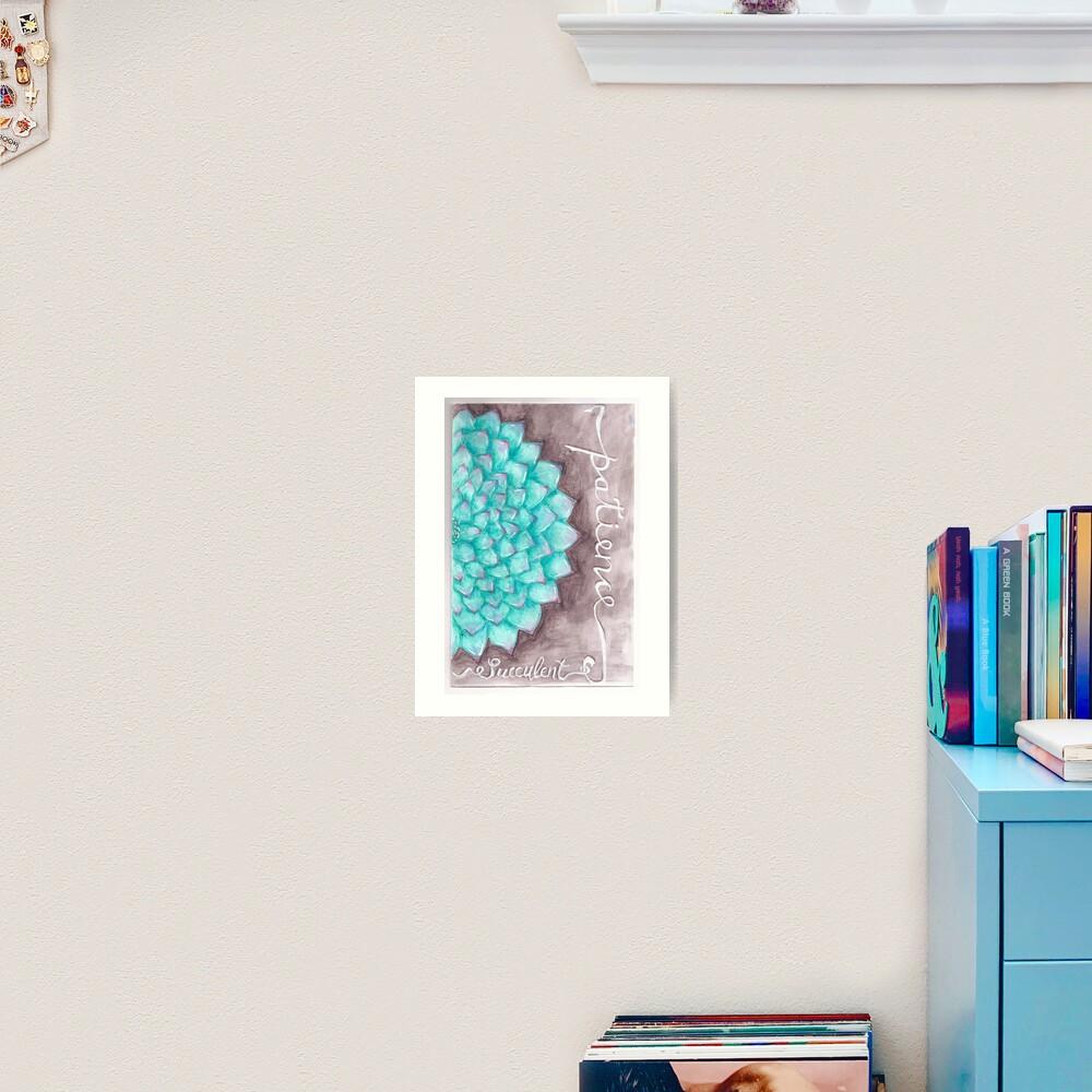 Succulent - Patience Art Print