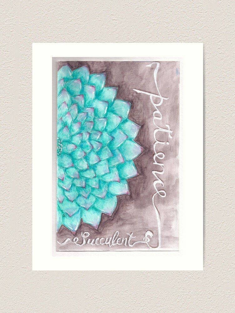 Alternate view of Succulent - Patience Art Print