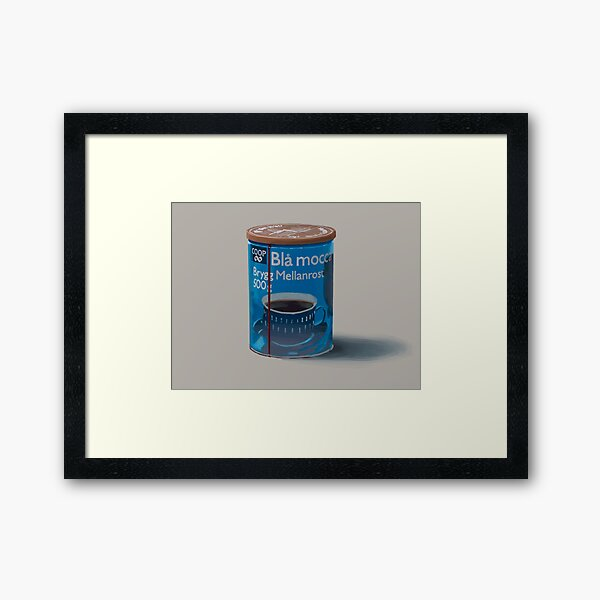 Things From The Flood - Röd Mocca Framed Art Print