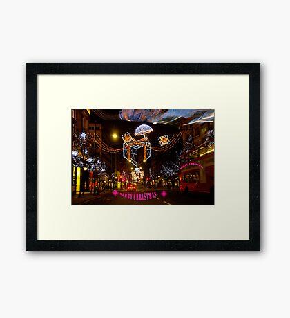 Christmas in Oxford Street  Framed Print