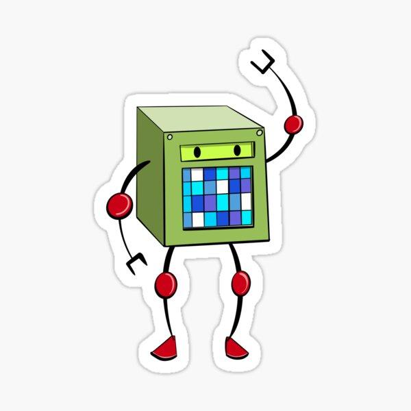 Cubey (green) Sticker
