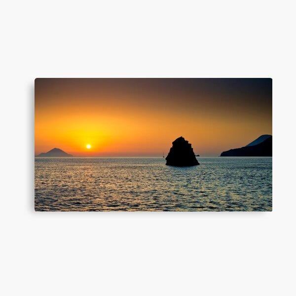 Isole al tramonto Canvas Print