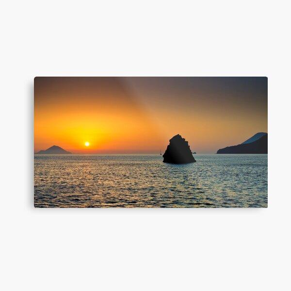Isole al tramonto Metal Print