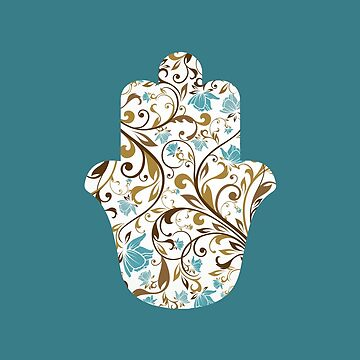 Floral Hamsa Pillows // Tote Bags // Mugs by DrawnToMind
