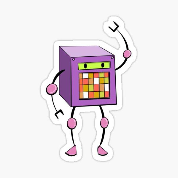 Cubey (purple) Sticker