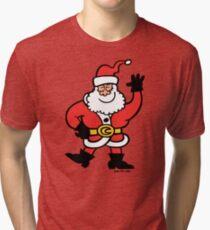 Santa Claus Greetings Tri-blend T-Shirt