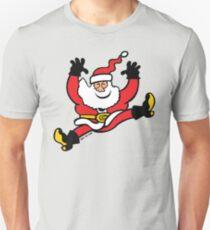 Santa Claus Jumping out of Joy T-Shirt