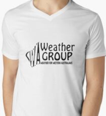 WA Weather Group T-Shirt  Mens V-Neck T-Shirt