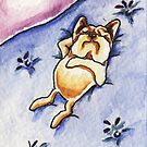 Frenchie Dreaming by offleashart