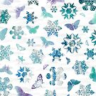 Snowflakes and Butterflies by Paula Belle Flores