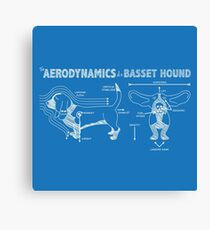The Aerodynamics of a Basset Hound Canvas Print