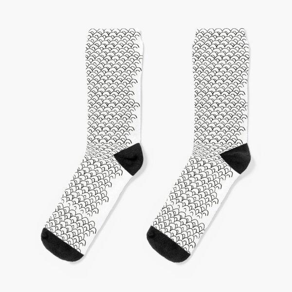 Pattern motivo japonés - blanco y negro Calcetines