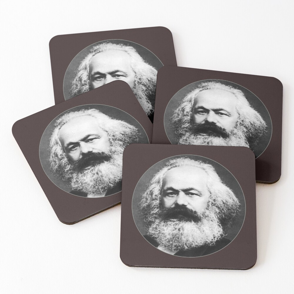 Karl Marx Coasters (Set of 4)
