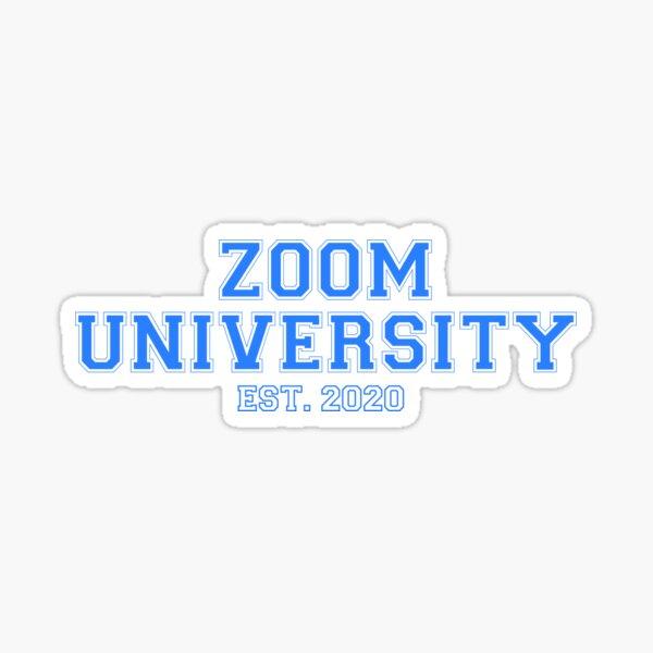 Zoom University Sticker Sticker