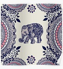 Pretty Pink Elephant  Poster