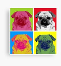Pop Art Pug Canvas Print
