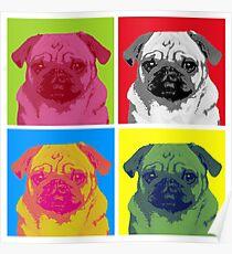 Pop Art Pug Poster