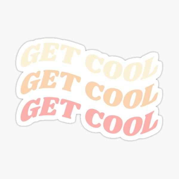 'get cool' Stray Kids Typography Sticker