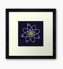Gold - Silver Atomic Structure Framed Print