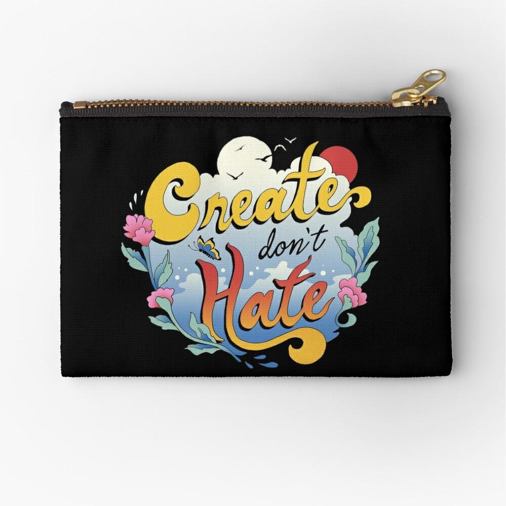 Create Don't Hate Zipper Pouch