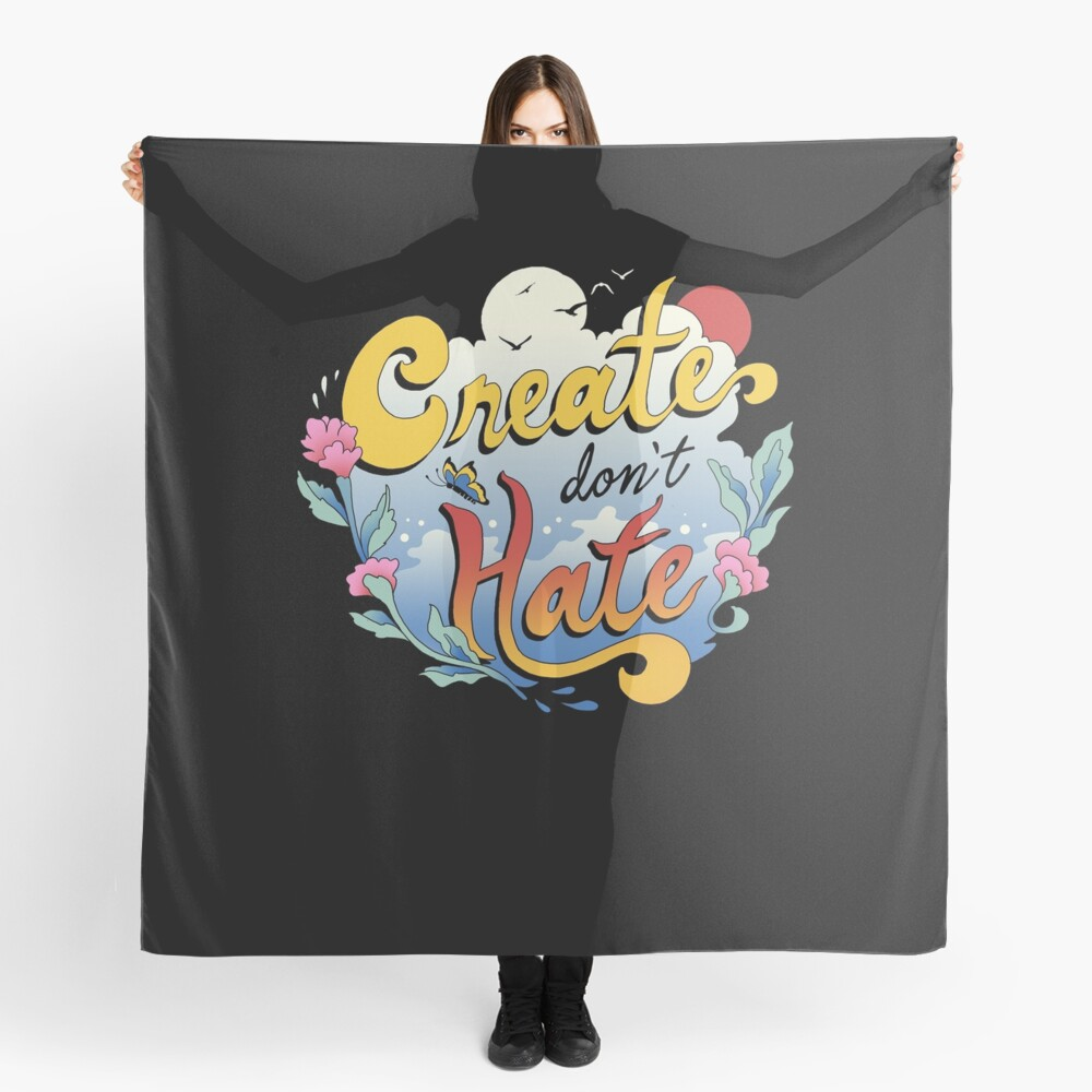 Create Don't Hate Scarf