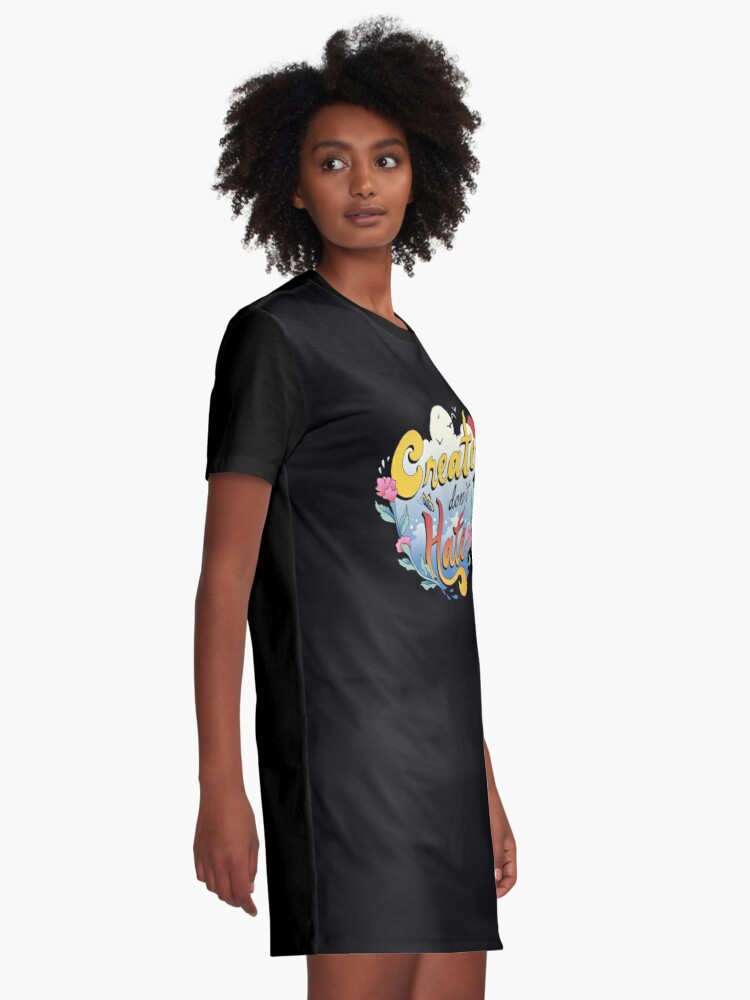 Alternate view of Create Don't Hate Graphic T-Shirt Dress