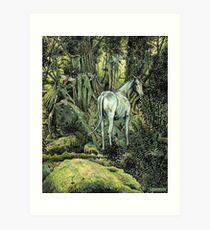Unicorn & Pixies Art Print