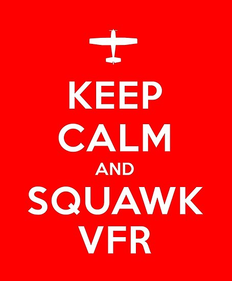 Keep Calm and Squawk VFR by vidicious