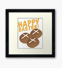 Hot cross buns HAPPY EASTER Framed Print