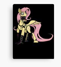My Little Pony - MLP - FNAF -  Fluttershy Animatronic Canvas Print