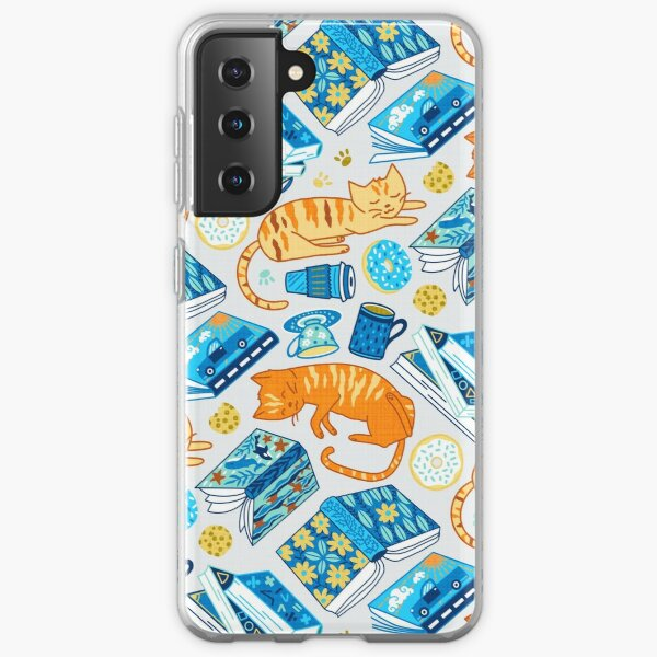 Tea Party Cat-Book Vibes!  Samsung Galaxy Soft Case